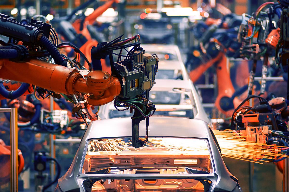 industria automotriz y planta de luz